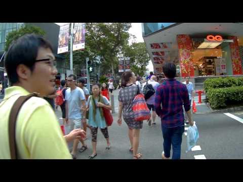 Singapore, walking from Dhoby Ghaut MRT to Orchard | SJ5000X FEIYUTECH WG