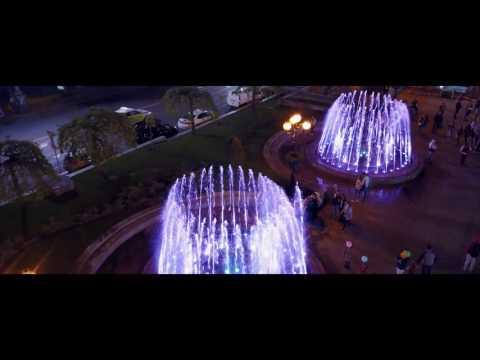 Световые фонтаны на Майдане. Музыкальные фонтаны в Киеве.
