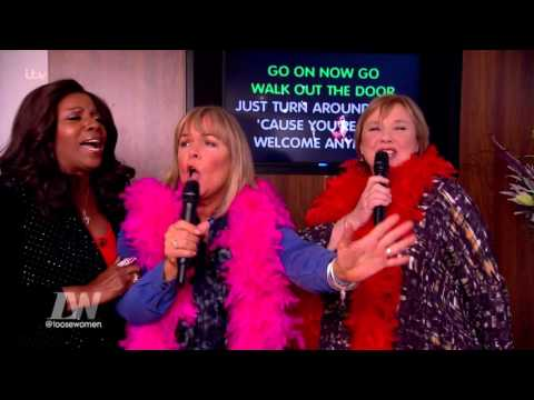 Linda Robson And Pauline Quirke Sing In Front Of Gloria Gaynor  Loose Women