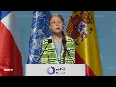 Greta Thunberg Rede COP25 in Madrid
