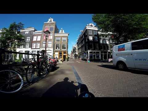 Amsterdam city  . 4K tour Amsterdam   summer 2016.