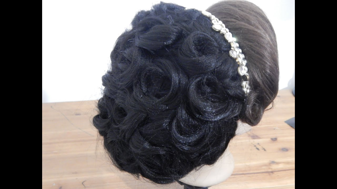 arabic bridal hairstyle / wedding updo