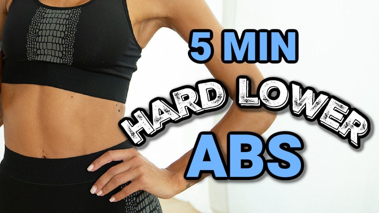 5 Min Hard Lower Abs // No Equipment // Define Your Core // Sami Clarke