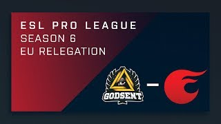 CS:GO - GODSENT vs. eXtatus - EU Relegation - ESL Pro League Season 6