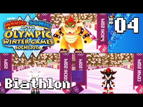 Mario & Sonic At The Olympic Winter Games Sochi 2014 - Remember the Safety Strap! - Biathlon