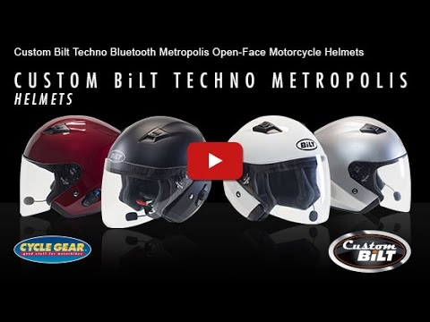 Bilt Techno Bluetooth Metropolis Motorcycle Helmet Official Product