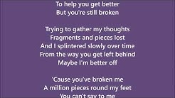 Broken - Brooke Butler - Lyrics