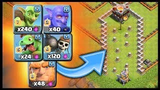 Epic Troll Base Challenge - Which Troop Wins? Valley of Death COC Battle   Clash of Clans