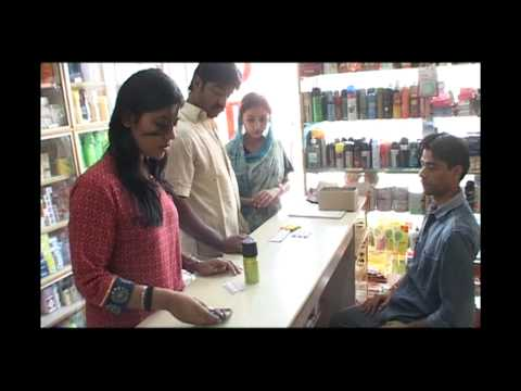 Woman Buying Condom