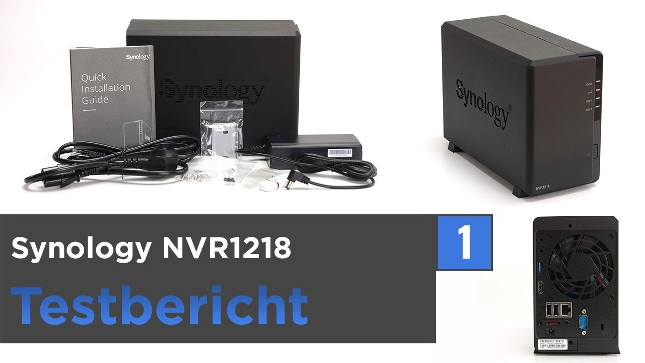Synology NVR1218 im Test - Unboxing, Montage & Installation (NVR Serie 1)