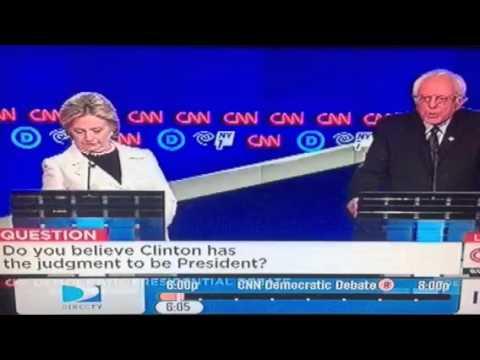 Bernie Sanders Attacks Hillary Clinton On Dem Debate #DemDebate