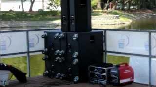 Generator Powered 20,000 Watt Sound Reinforcement System