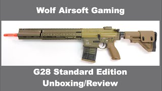 HK G28 Unboxing and Review Standard Edition Airsoft Gun (VFC, EF)