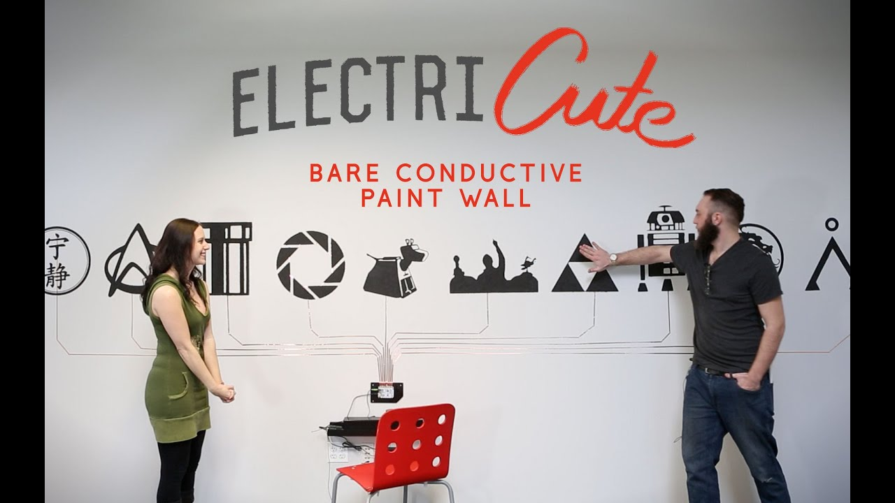 sparkfun electricute bare conductive paint wall youtube