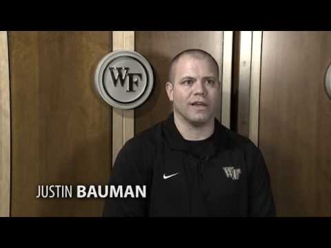 Wake Forest Director of Basketball Operations Justin Bauman