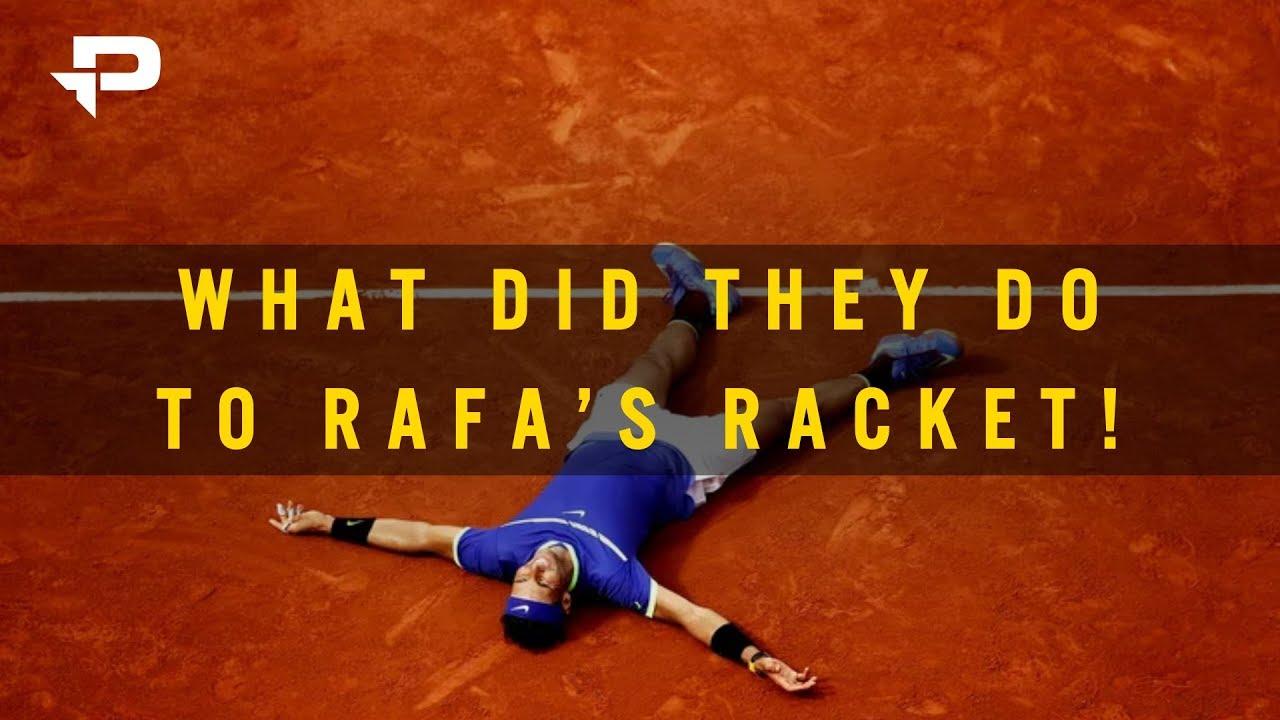 Rafa s Legendary New Racket!  9a6c6df786c8a
