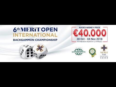 6th Merit Open International Backgammon Championship Day 3 Part 1 HD