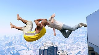 GTA 5 CRAZY Jumper/Building Falls Compilation #2 (Grand Theft Auto V Funny Moments/Fails/Ragdolls)