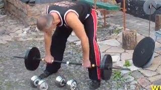 Наклоны со штангой или гантелями: упражнение для спины(Хотя наклоны со штангой или гантелями и не дают такого результата, как скажем, становая тяга, они все же..., 2013-04-13T07:07:34.000Z)
