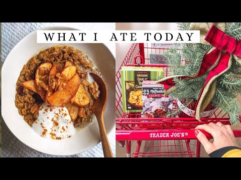 What I Ate Today + Trader Joes Grocery Haul ? Healthy Vegan Meals