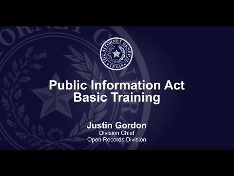 Public Information Act Basic Training
