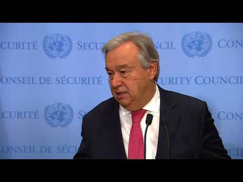 UN Chief on Climate Change and other matters - Media Stakeout (10 November 2017)