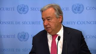 UN Chief on Climate Change and other matters - Media Stakeout (10 November 2017) thumbnail