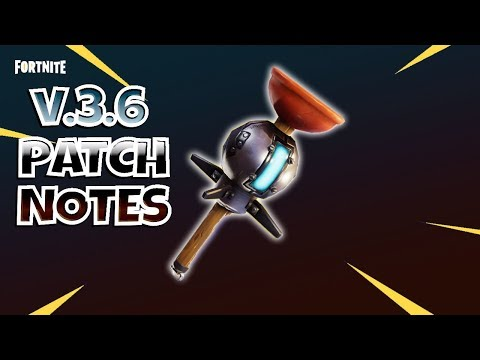 FORTNITE PvE : V.3.6 PATCH NOTES   Save The World
