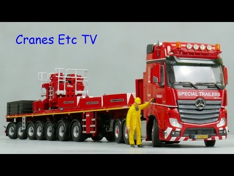 IMC Mercedes-Benz Actros + Nooteboom 7-axle Ballast Carrier by Cranes Etc TV