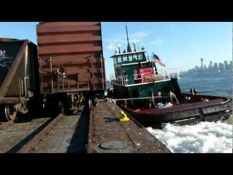 Floating cars through New York Harbor