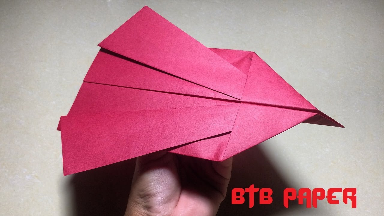 Origami paper airplane - Paper plane very good fly