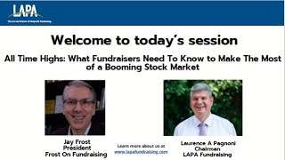 All Time Highs: What Fundraisers Need To Know to Make The Most of a Booming Stock Market