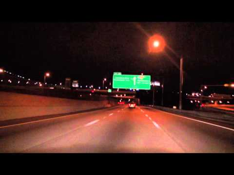 I-95 South at night: Philadelphia, PA