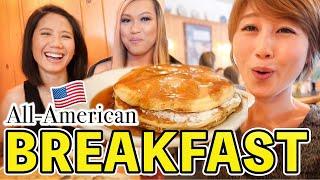 超アメリカンな朝食&お友達とどーでもいい(けど楽しいw)英会話!〔#893〕