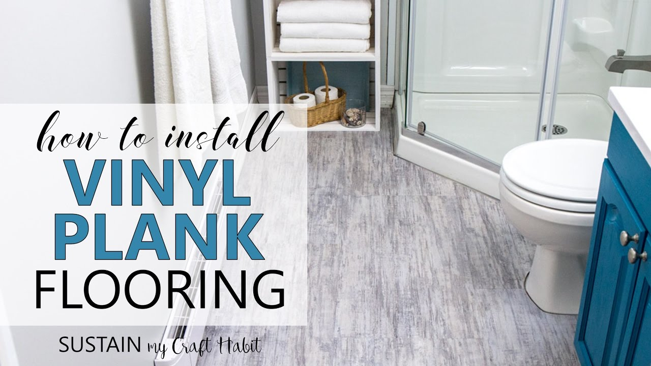 how to install vinyl plank flooring // allure isocore vinyl tile