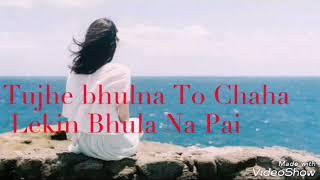 Tujhe bhulna to chaha lekin bhula na paye