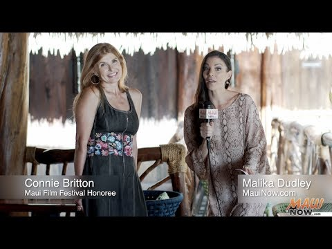 Malika Dudley interviews Connie Britton at Maui Film Festival 2017