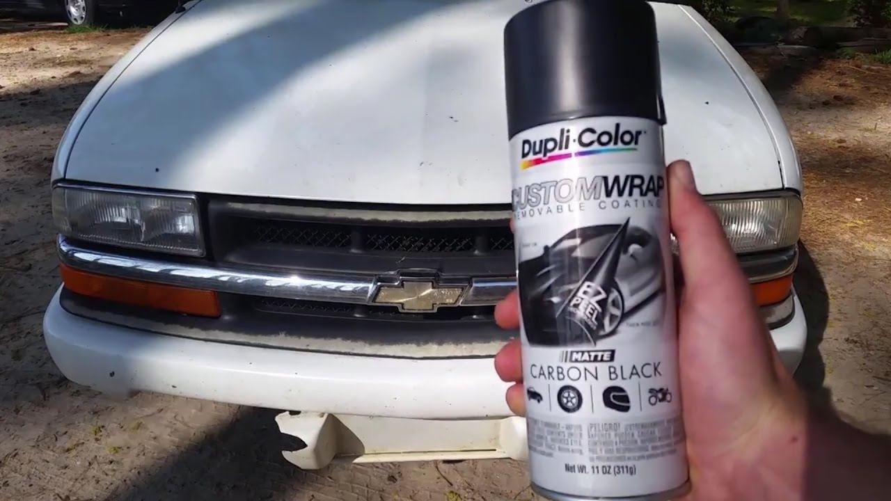 How to Remove and Paint (Plasti-Dip) Front Grill - Chevy S10 (Restore Faded  Grill)