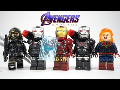 Avengers Endgame Iron Man Shield War Machine Captain Marvel Hawkeye Thor Unofficial Lego Minifigures