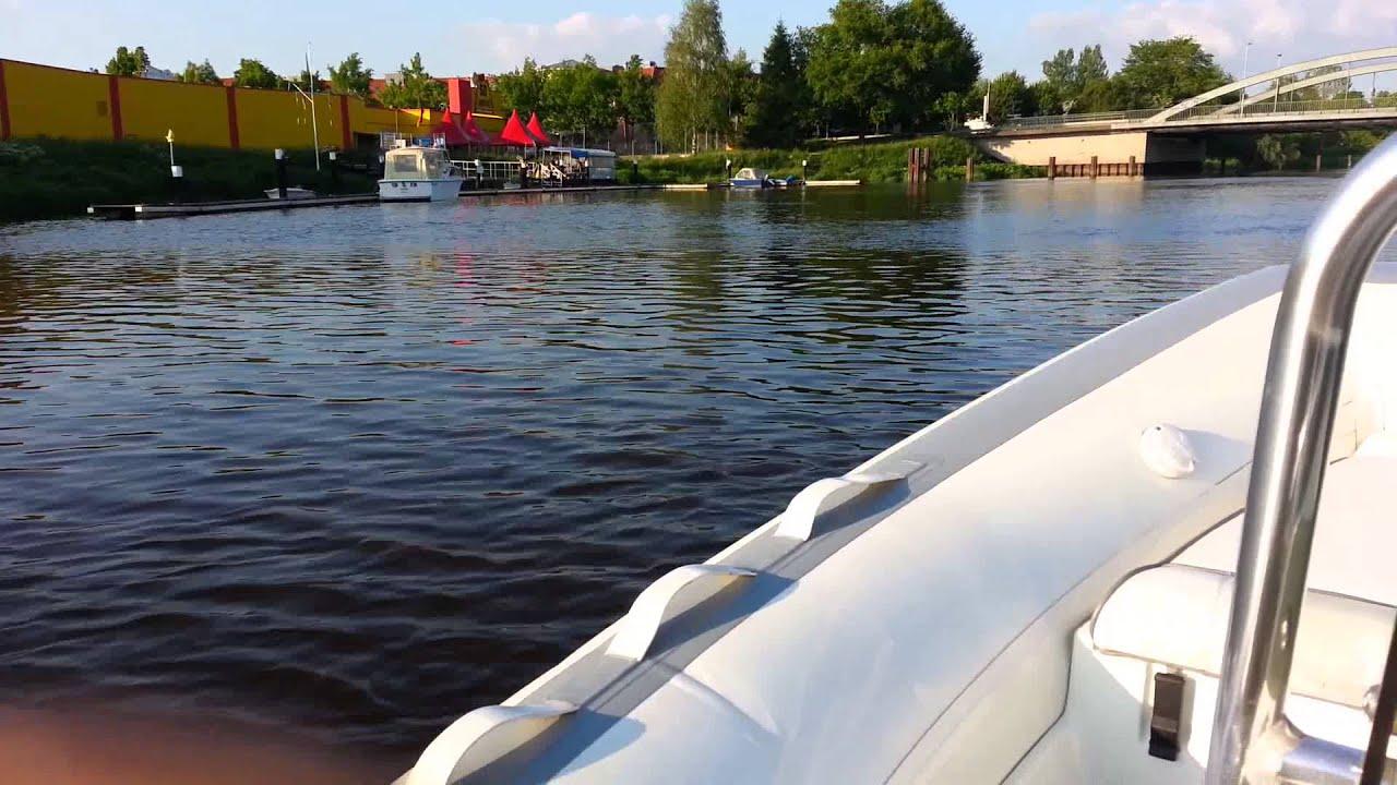 rib schlauchboot sportboot gfk festrumpf boot 15 ps au enborder yamaha mercury 15ps youtube. Black Bedroom Furniture Sets. Home Design Ideas