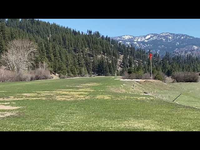 Cessna 185 takeoff from Garden Valley Airport Idaho