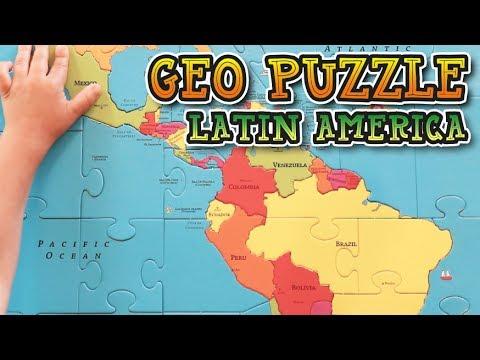Latin America GeoPuzzle (South America, Central America & Mexico ...