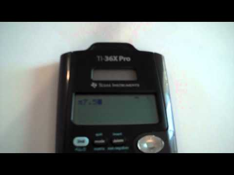 TI 36X Pro: Scientific and Engineering Notation