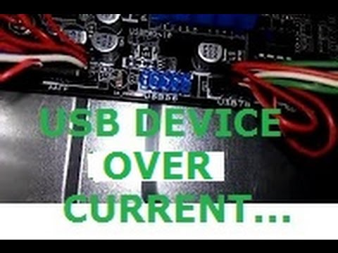 Usb device over current status detected !!