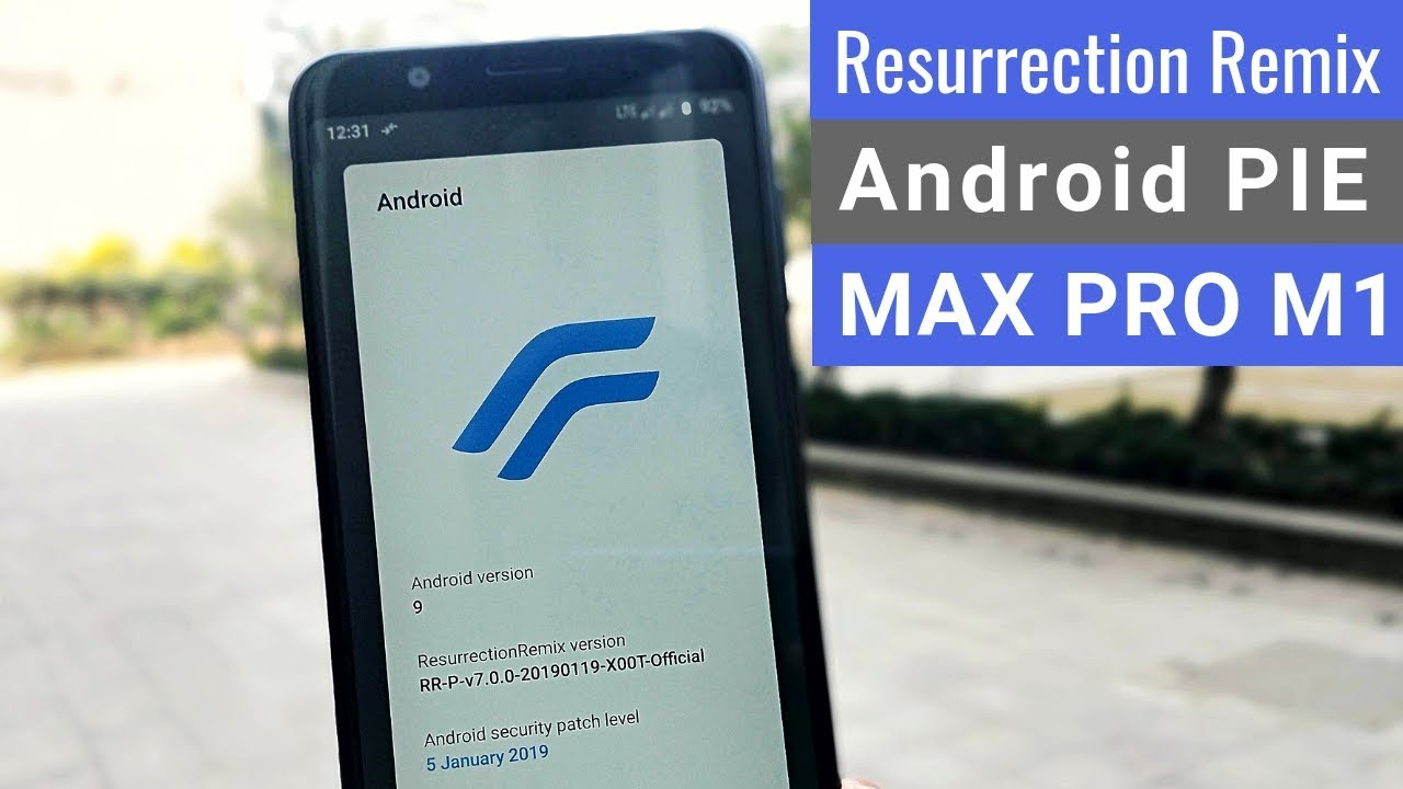 Official Resurrection Remix PIE v7 0 on Zenfone Max Pro M1