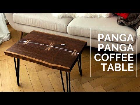 Coffee Table - Live Edge Panga Panga - DIY