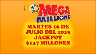 Gambar cover Resultados Mega Millions 16 de Julio  2019 $137 Millones de dolares | Powerball en Español
