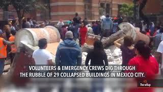 Nearly 140 dead as powerful earthquake rocks Mexico