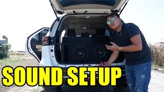 MY FORTUNER SOUND SETUP l 2 PULSE SUBWOOFER l BASS TEST l RYAN AUDIO l BADASS BOOSTED