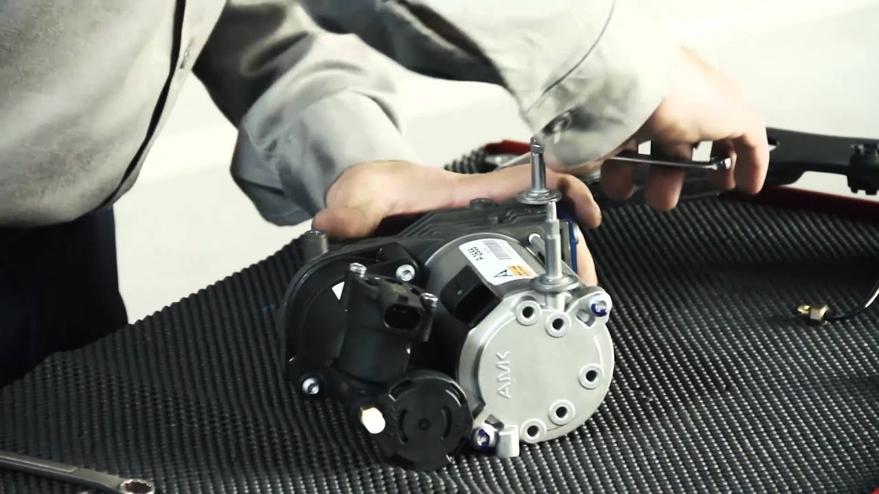 maxresdefault replacing the 07 13 bmw x5 (e70) & x6 (e71) air susp compressor  at mifinder.co